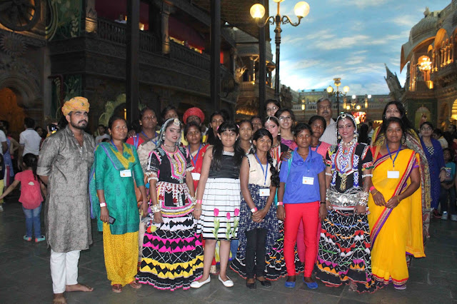 Kingdom of Dreams spread smile on the faces of  Tribal Girls and women from Aahan Tribal Development Foundation (ATDF)