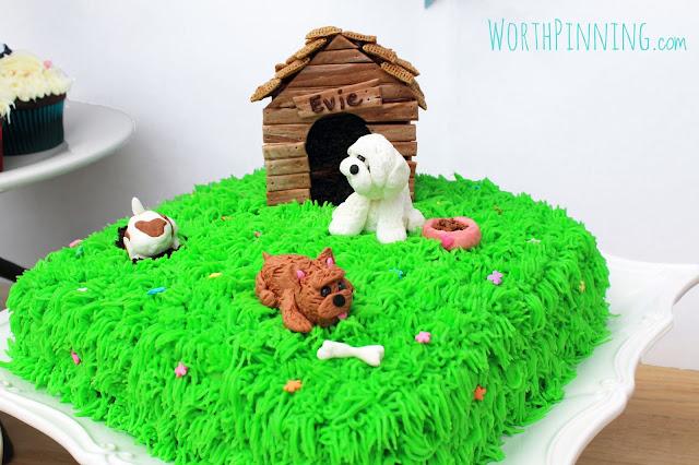 Wiener Dog Cupcake Cake