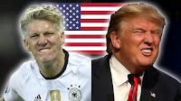 Βίντεο που παρουσιάζει οκτώ ποδοσφαιριστές, οι οποίο μοιάζουν στον Donald Trump