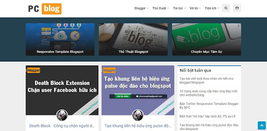 Chia sẻ Updated ToiCode Template Blogger 2018