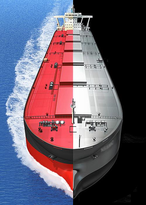 リアルイラスト、3DCG、タンカー、海、船,洋上