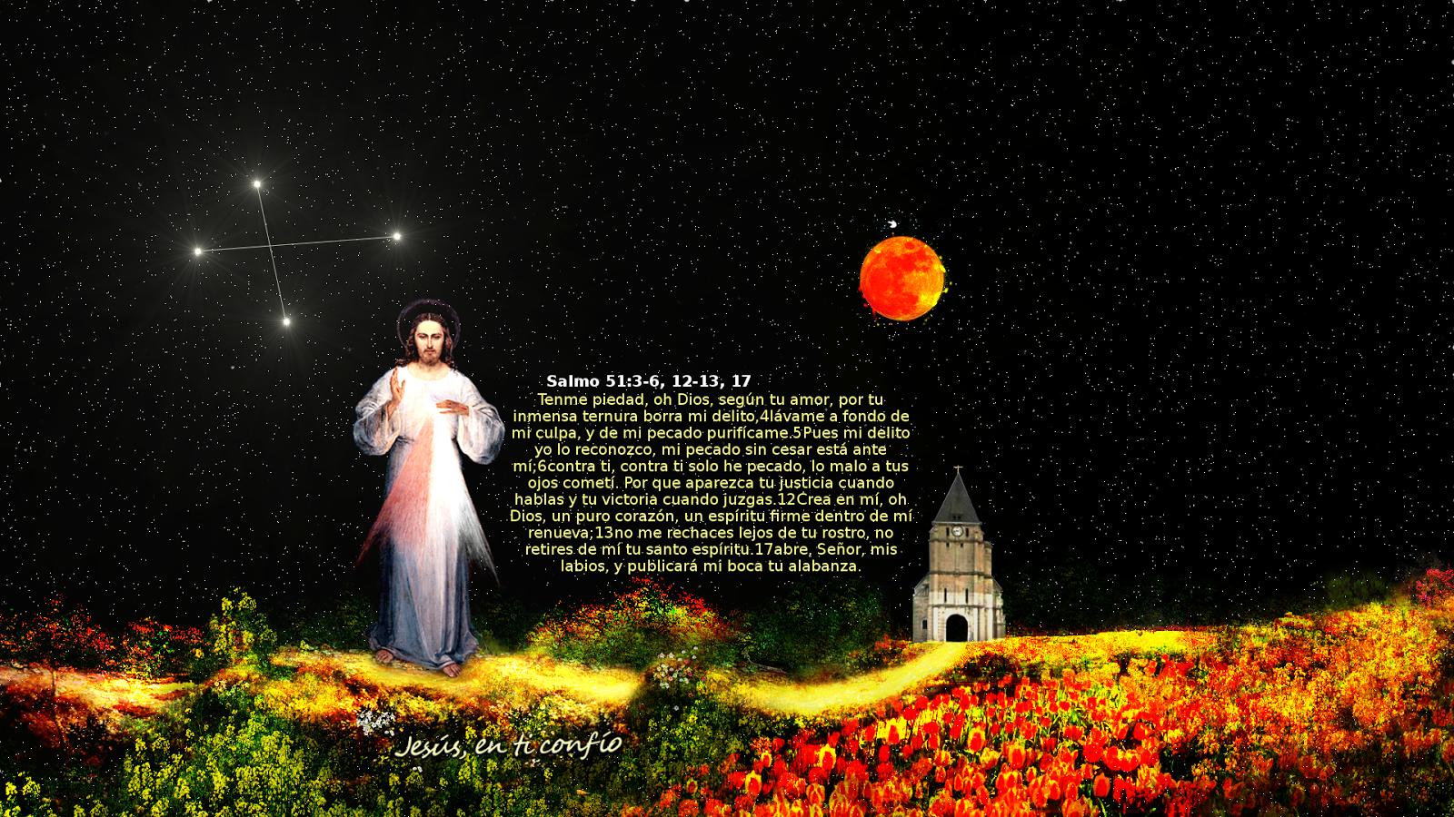 divina misericordia con salmo