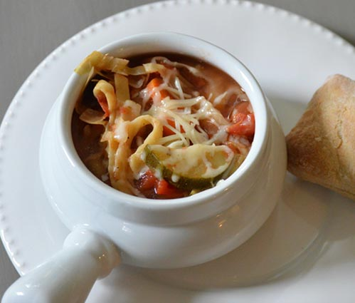 Savory Minestrone Soup - My Family Thyme