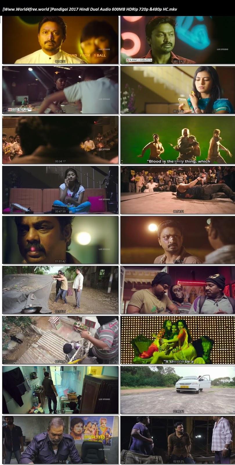 Screen Shoot of Pandigai 2017 Hindi Dual Audio 600MB HDRip 720p HC