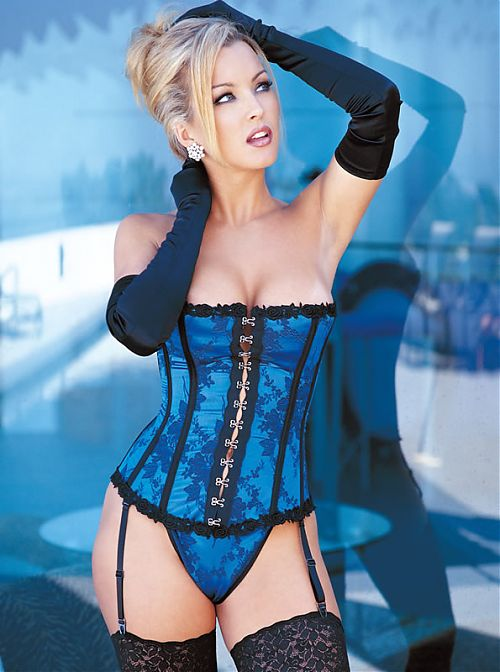 Sexy Women In Blue Lingerie 43