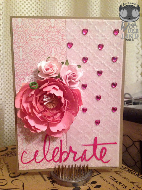 Celebrate | A floral themed card by Alice Scraps Wonderland