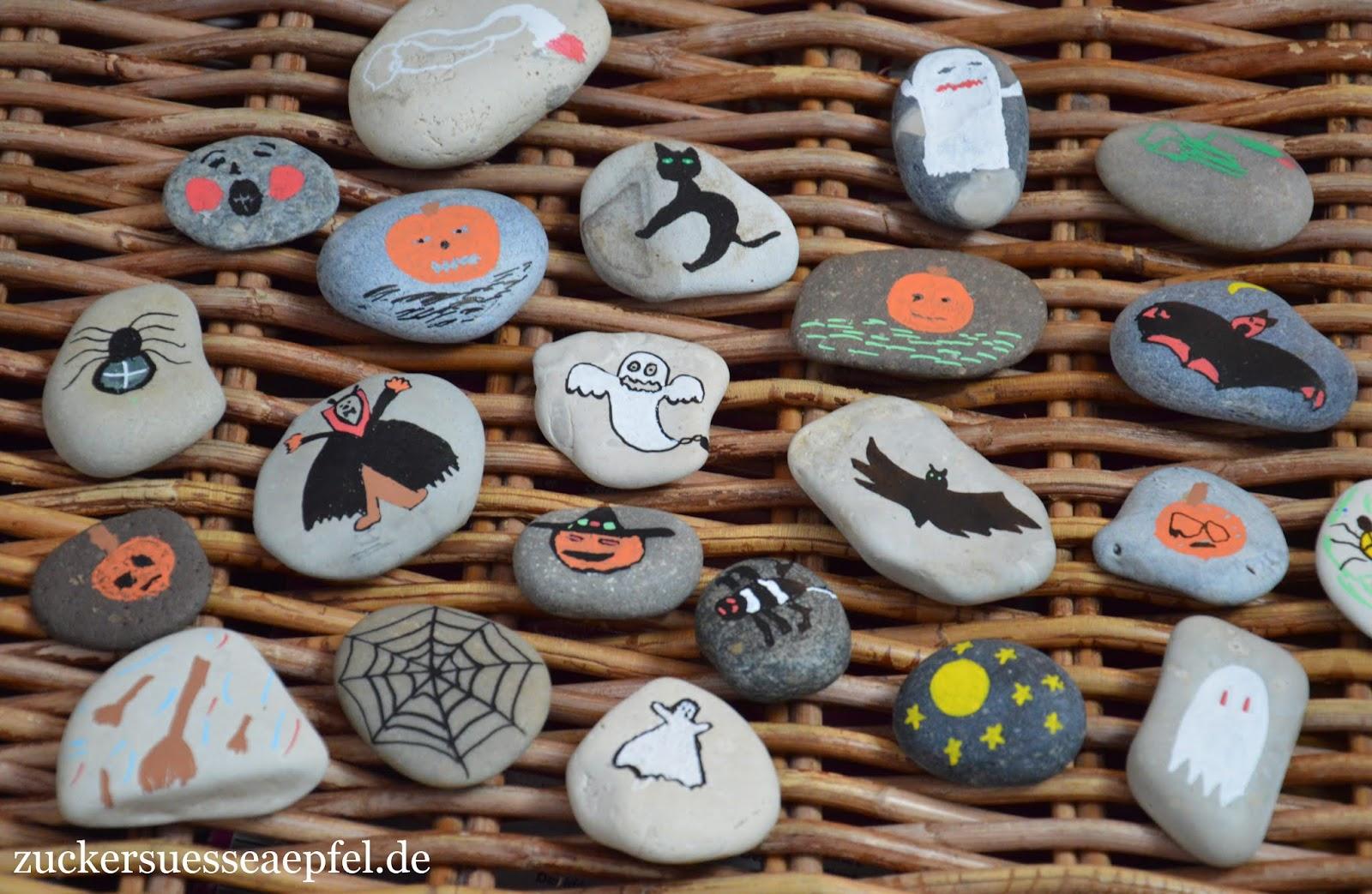 Halloween Steine Als Dekoration Selbst Machen Zuckersusse