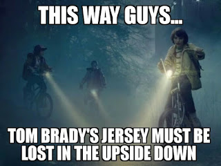 this way guys... tom brady's jersey must be lost in the upside down