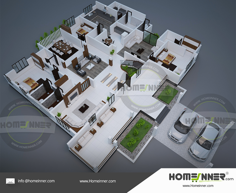 Free house plan 4 Bedroom 4865 sq ft