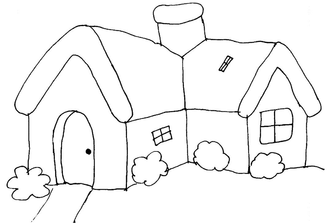 Casas para colorear - Dibujos para Colorear y Pintar Gratis