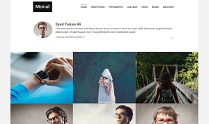 Monal blogger template portfolio personal responsive