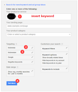 Keyword research with Google's Keyword Planner