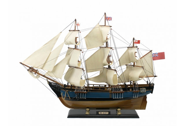 HMS Bounty Wooden Tall Ship Model