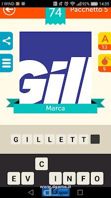 Iconica Italia Pop Logo Quiz soluzione pacchetto 5 livelli 74-75