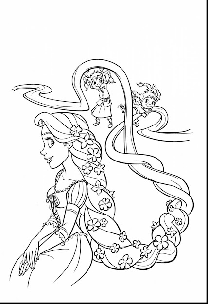 Fabulous Disney Tangled Coloring Pages Printable With Tangled Coloring Pages  And Rapunzel Coloring Pages Pdf