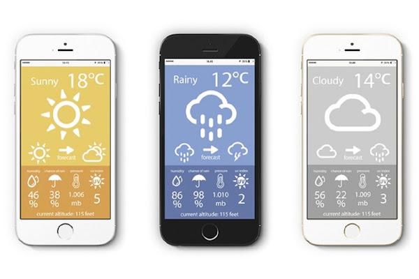 Weather Point 2.0 的 App 介面,數位時代翻攝自 Mind Lab 網站。