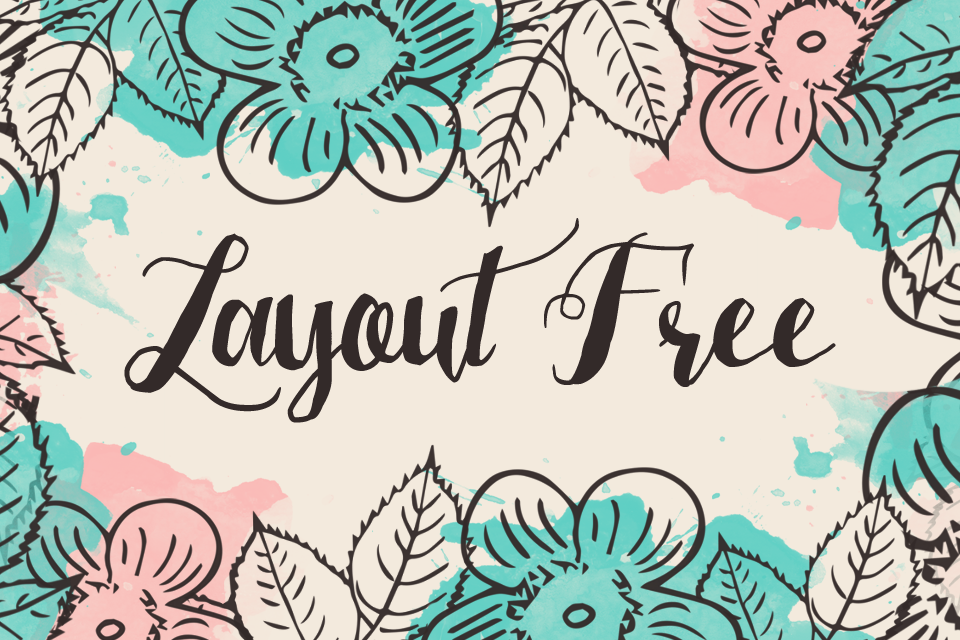 Layout color floral free