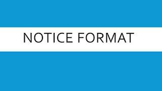 notice format,notices format,notice writing format,notice making format,
