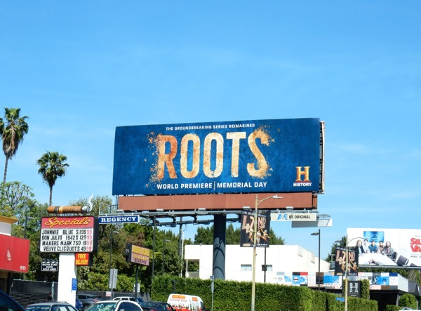 Roots TV remake billboard