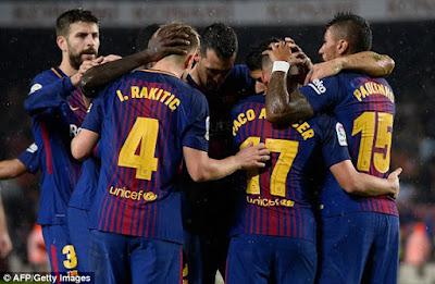 Highlight Barcelona 2-1 Sevlla, 04 November 2017