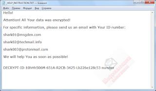 Shark CryptoMix Ransomware