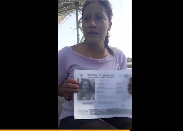 Madre de niña desaparecida clama ayuda y autoridades le dicen que 'se fue con el novio' (VIDEO)