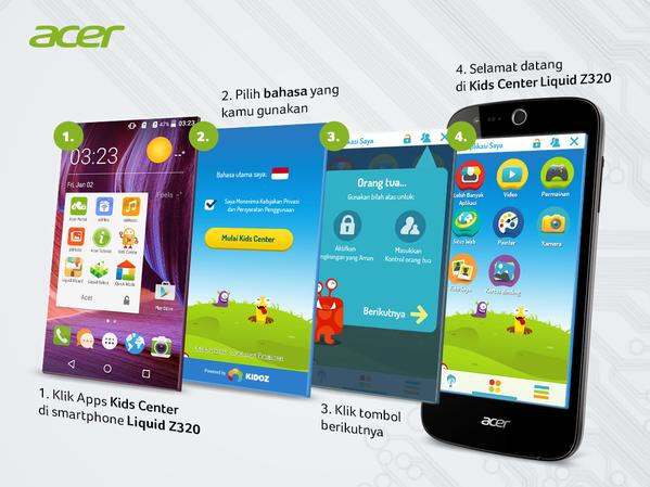 Cara Mengkatifkan Fitur Kids Center di Smartphone Liquid Z320