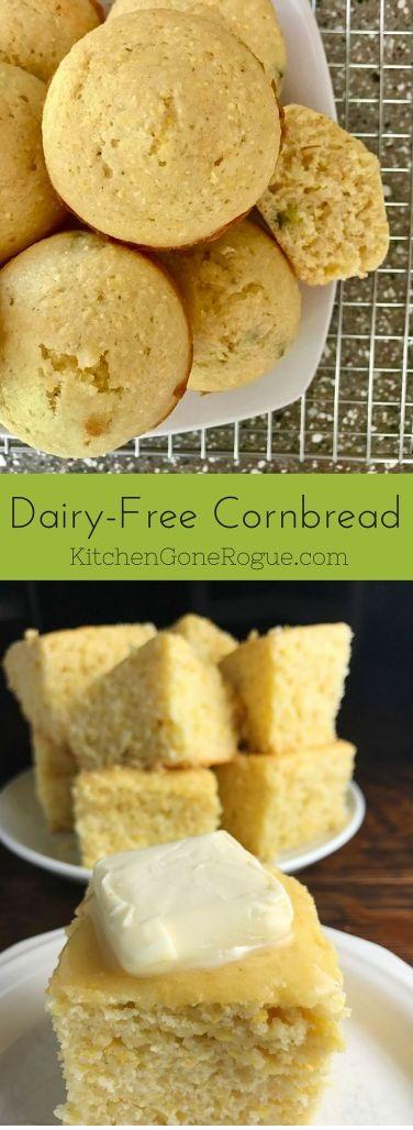 Sweet Dairy-Free Cornbread