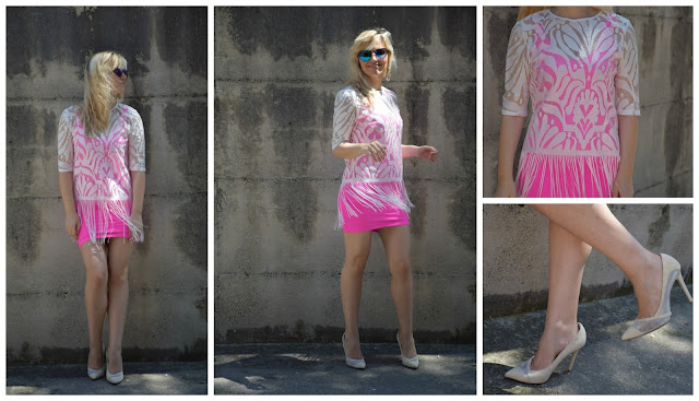 outfit rosa come abbinare il rosa how to wear pink pink dress lace shirt fringed shirt maglia in pizzo maglia con frange outfit giugno 2017 outfit estivi fashion blog italiani fashion blogger italiane blog di moda blogger italiane di moda summer outfits june outfits