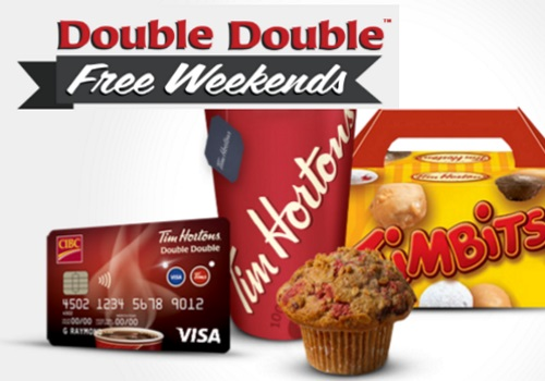 Tim Hortons Double Double Free Weekends for CIBC Visa Cardholders