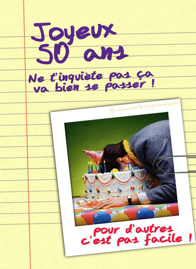 Exceptionnel Anniversaire 50 ans humour - proverbe d'amour ID88