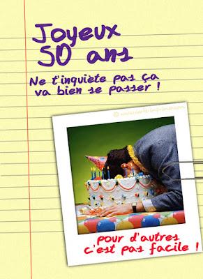 carte anniversaire 50 ans humour homme
