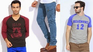 Flat 60% Off on Men's Clothing (Breakbounce & POE)@ Flipkart