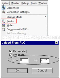 Upload Program Parameters LG PLC