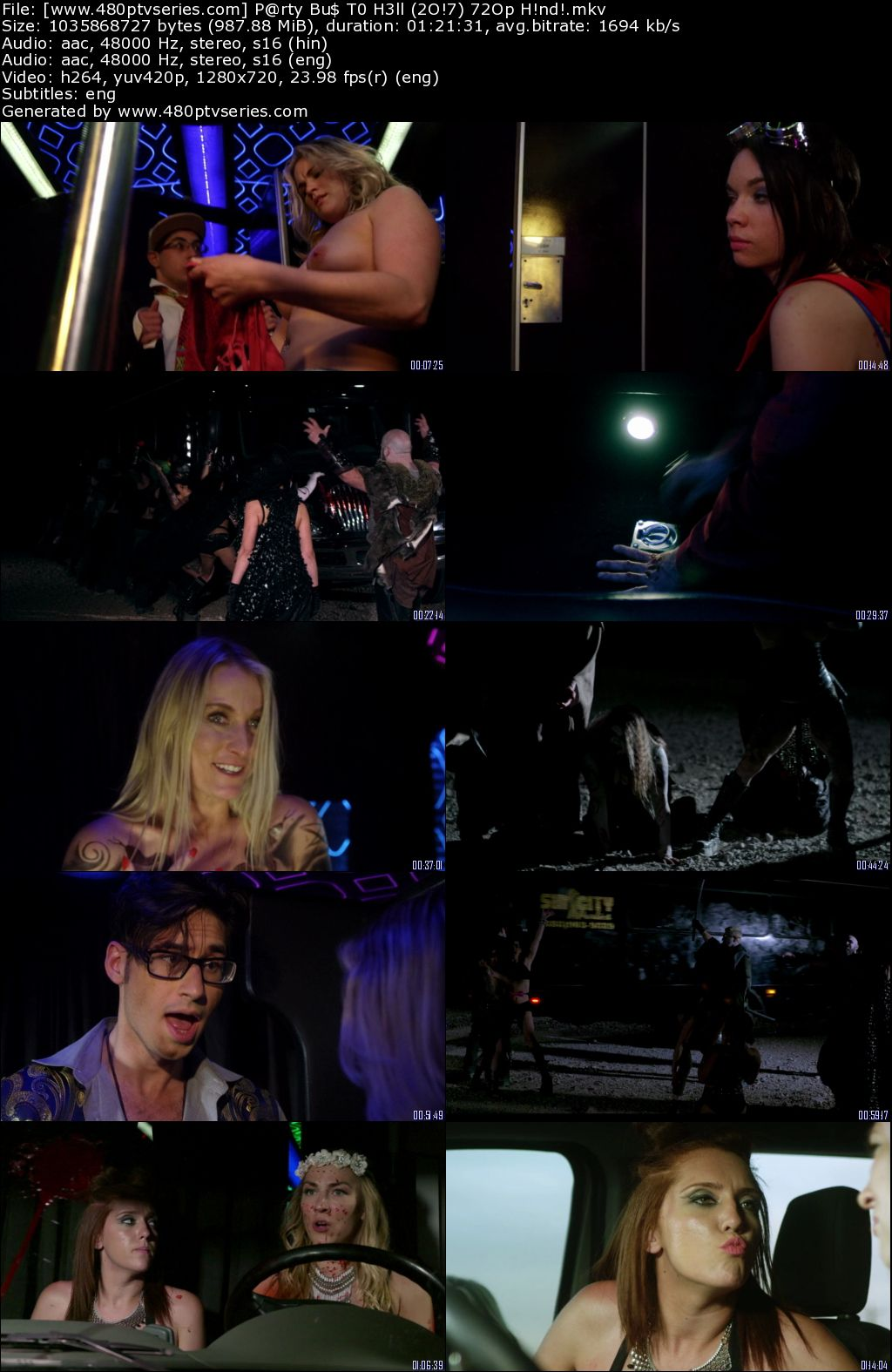 Download Party Bus to Hell (2017) 950MB Full Hindi Dual Audio Movie Download 720p Bluray Free Watch Online Full Movie Download Worldfree4u 9xmovies