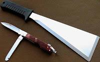 авиационный нож и нож-мачете из авиационного НАЗа