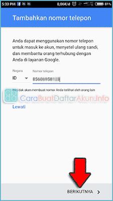 cara membuat email baru di hp