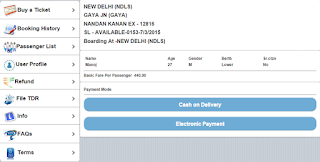 IRCTC has launched book my train  cash on delivery service for booking train tickets for passengers who can't make payment online. The...
