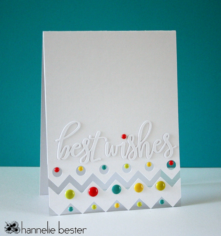 Dots and chevrons best wishes card