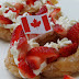 Canada Day Strawberry Filled Doughnuts