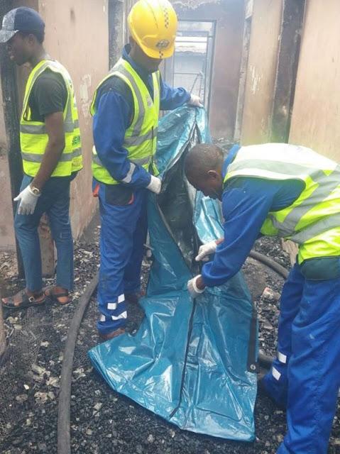 Fire outbreak in  Lawanson Surulere, Lagos 8888