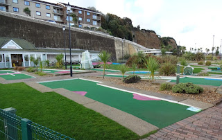 The Crazy Golf course at Shanklin seafront on the Isle of Wight in 2016