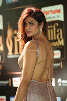 Telugu Actress Aarthi in Deep Neck Backless Golden Gown at IIFA Utsavam Awards 2017 Exclusive 19.JPG
