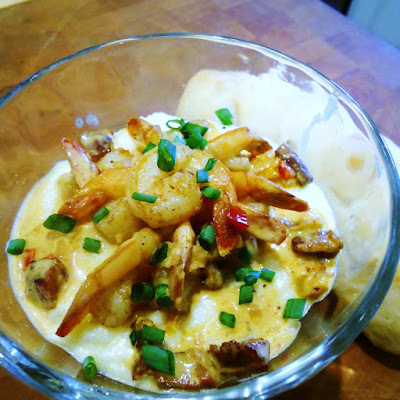 Shrimp and Grits with Tasso Cream Sauce_menumusings.com