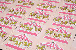 birthday party carousel invites