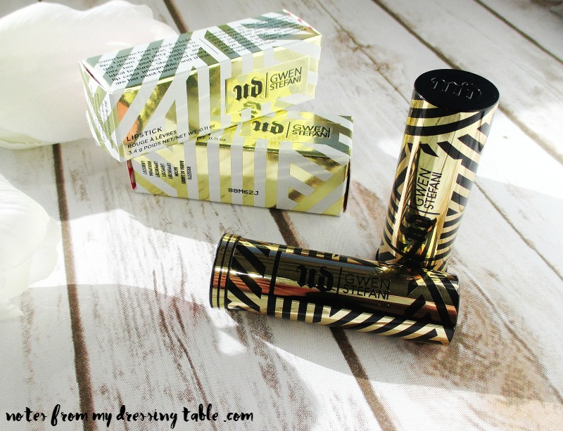 Urban Decay X Gwen Stefani Collection Lipsticks | My Notes-Review-notesfrommydressingtable.com