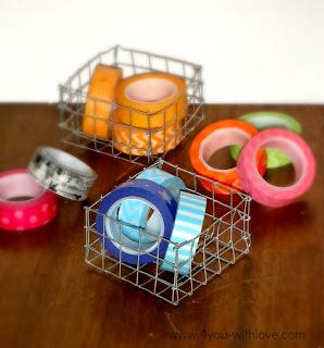 DIY Wire Baskets for Craft Supplies