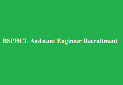 BSPHCL Assistant Engineer Recruitment 2016