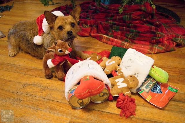 Jada with her stocking stuffers