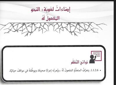 حل درس المفعول له في اللغة العربية للصف التاسع